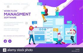 Workflow Design Online Workflow Management Software Landing Page Template Online