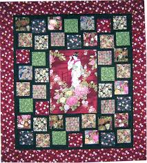 Panel Quilt Patterns Beauteous Asian Panel Quilt Pattern