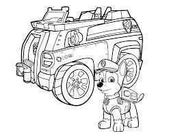 Paw Patrol Chase Il Cane Poliziotto Davanti Al Suo Veicolo