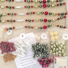 traditional colors glass bead garland project kit 75 inches long completed