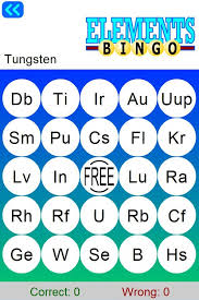 Learn Periodic Table Bingo - Android Apps on Google Play