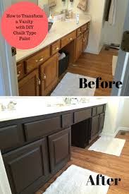 Type of paint for bathrooms Black Bathroom Vanity Transformation With Diy Chalk Type Paint Bathrooms Decor Ideas Accessories Bathroom Paint Type Use Small House Interior Design
