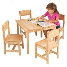 view larger wooden table and chairs