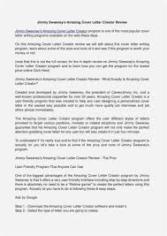 20 Cover Letter Builder 2018 Latest Template Example
