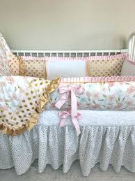 large size of custom baby bedding crib set girl nursery light pink and gold fl sets peach uk flo