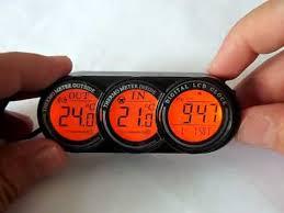 <b>Digital Car</b> thermometer Internal external temperature - YouTube