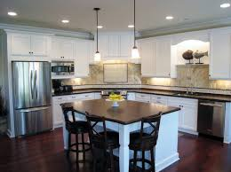 white stained wooden kitchen