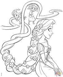 Small Picture Tangled Coloring Pages Within Rapunzel Coloring Pages Online esonme