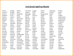 Second Grade Spelling Words Worksheets For Download Free Math