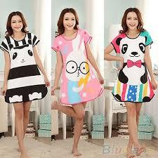 HK- <b>Korean Womens Cute Cartoon</b> Sleepwear Pajamas Short ...