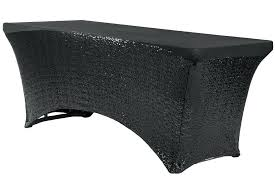 6 ft table glitz sequin spandex table cover rectangular black what size tablecloth for 6ft round 6 ft table