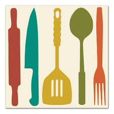 Image Clip Art Wayfair colorful Kitchen Utensils Graphic Art Print On Canvas
