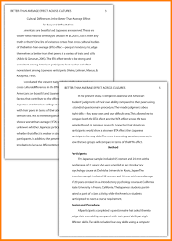Apa Essay Examples Apa Research Paper Outline Template Simple Apa Essay Example