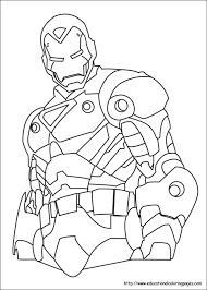 Small Picture Iron man Coloring Pages free For Kids