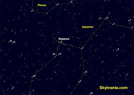 Tonight Sky Star Chart Where You Can Find Neptune In The Night Sky