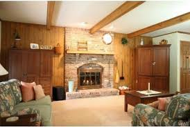 paint wood panel wall around fireplace