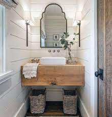 Vanity And Mirror Bathroom All In One