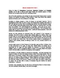 using the plays of aristophanes lysistrata sophocles oedipus  page 1 zoom in