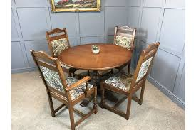 old charm dining table 4 chairs round extendable table free delivery photo