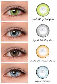 Crystal Light Blue Contacts Black Outer Ring Good Enlarging Effect Good Color Dark