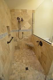walk in tile showers without doors. cozy-travertine-tile-floor-with-merola-tile-wall- walk in tile showers without doors