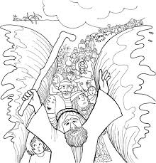 Sweet Printable Coloring Pages Of Moses Parting The Red Sea Parts