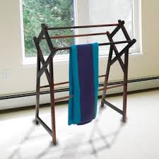 towel stand wood. Cross Free Standing Towel Stand Wood
