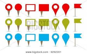 Pins For Maps Maps Pins Vector Photo Free Trial Bigstock