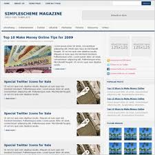 Newspaper Website Template Free Download Simple Scheme Magazine Template Free Website Templates In
