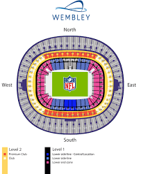 Wembley Stadium Nfl Seating Chart 2 Night Package Washington Redskins V Cincinnati Bengals