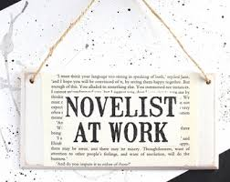 gifts for writers  gifts for writers novelist at work original wooden door sign literary gifts ~