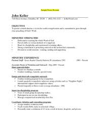 Pastor Resume Templates Beauteous Ministry Resume Templates 48 48 Senior Pastor Professional Sample