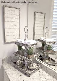 Decorative Bathroom Tray Unique accessories add style and function to my vanity These cute 9