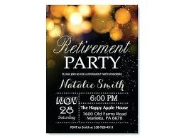 40th Surprise Birthday Party Invitation Templates Free Retirement