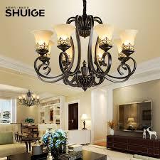 american lamps living room european villa duplex building large chandelier country wrought iron retro luxury atmosphere restaurant bedroom ten head gold