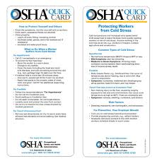 Osha Cold Stress Chart Protective Clothing For Cold Weather Worker Safety