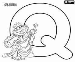 Small Picture Sesame Street Alphabet coloring pages printable games 2