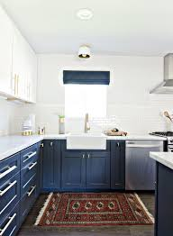 Beautiful Blue Kitchen Cabinet Ideas Navy Blue Kitchen Cabinets ...
