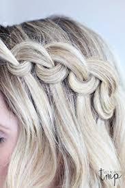 Looped Waterfall Braid účesy Hair Hair Styles A Braided Hairstyles