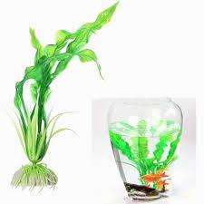 <b>Green Artificial</b> Plastic <b>Grass</b> Fish Tank Ornament Water <b>Plant</b> ...