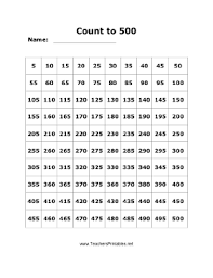 This Free Printable Numbers Chart Helps Children Count To