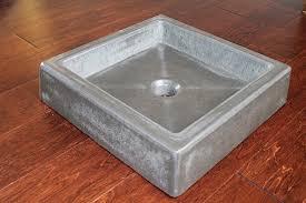 concrete vessel sink. Plain Concrete Shallow Concrete Vessel Sink With