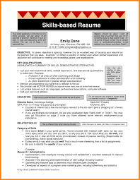 13 Skills Based Resume Templates Offecial Letter