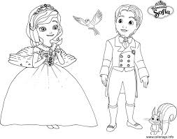 Coloriage Princesse Sofia Et Prince James Dessin