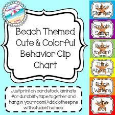 Starfish Chart Beach Themed Behavior Management Clip Chart Coloful Cute With Starfish