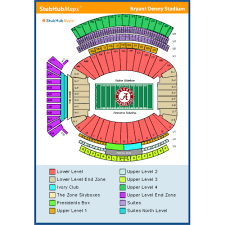Alabama Seating Chart Bryant Denny Bryant Denny Stadium Events And Concerts In Tuscaloosa