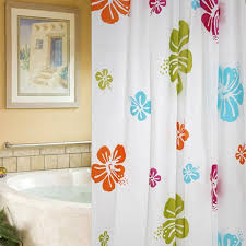 best hawaiian flower shower curtain beautiful 180x200cm spa waterproof shower curtain peva bathroom shower