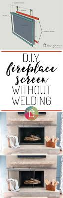 this sliding fireplace screen is amazing best of all this blogger s tutorial