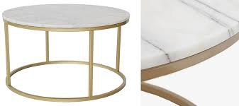 marble round coffee table by hazelwood home
