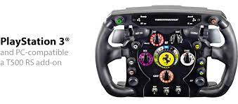 Detachable racing wheel featuring the thrustmaster quick release system quickly switch from the gt wheel to the f1 ferrari* wheel (and conversely). Technical Data About The Thrustmaster Ferrari F1 Wheel A T500 Rs Add On